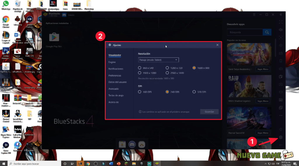 como configurar bluestacks optimizar, como acelerar bluestacks sin programas, bluestacks lento, opengl o directx bluestacks