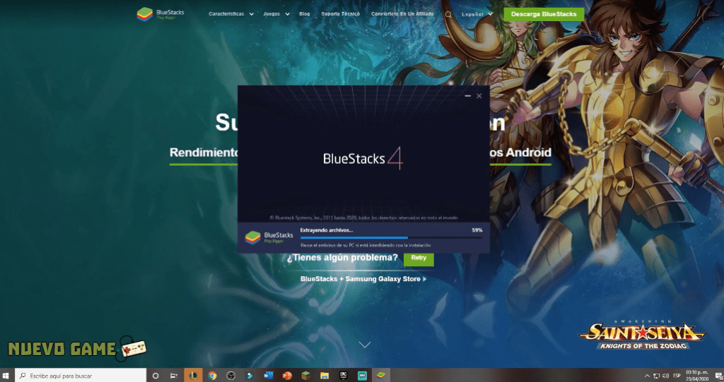 como instalar emulador bluestacks en pc windows